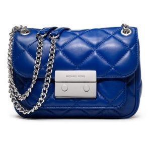 Quilted Michael Kors 💙 BLUE Leather Sloan Bag